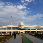 [Turkmenistan] Otwarcie lotniska w kształcie ptaka